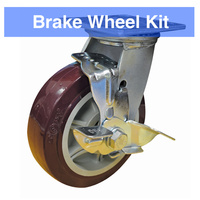 Brake Kit (Includes 2 x Fixed Wheels & 2 x Swivel Wheels With Brakes)